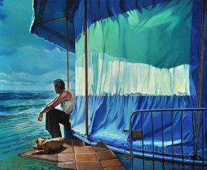 Vague à l'âme - Huile sur toile - 61 x 50 cm