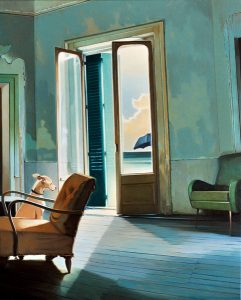 Temps de chien - Huile sur toile - 81 x 65 cm