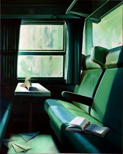 Train-train - Huile sur toile - 81 x 65 cm